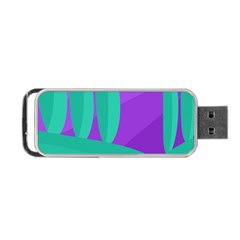 Purple and green landscape Portable USB Flash (Two Sides)