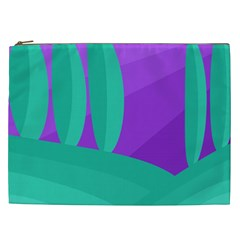 Purple and green landscape Cosmetic Bag (XXL)