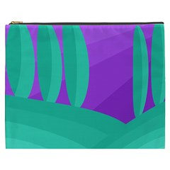 Purple and green landscape Cosmetic Bag (XXXL)