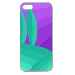 Purple and green landscape Apple Seamless iPhone 5 Case (Clear)