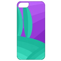 Purple and green landscape Apple iPhone 5 Classic Hardshell Case