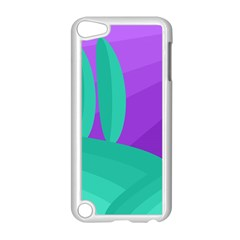 Purple and green landscape Apple iPod Touch 5 Case (White)