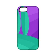 Purple and green landscape Apple iPhone 5 Classic Hardshell Case (PC+Silicone)
