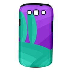 Purple and green landscape Samsung Galaxy S III Classic Hardshell Case (PC+Silicone)