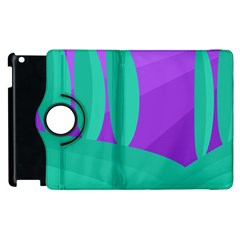 Purple and green landscape Apple iPad 3/4 Flip 360 Case