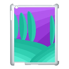 Purple and green landscape Apple iPad 3/4 Case (White)