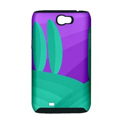 Purple and green landscape Samsung Galaxy Note 2 Hardshell Case (PC+Silicone)