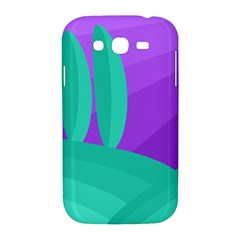 Purple and green landscape Samsung Galaxy Grand DUOS I9082 Hardshell Case