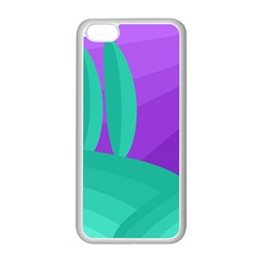 Purple and green landscape Apple iPhone 5C Seamless Case (White)