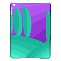 Purple and green landscape iPad Air Hardshell Cases