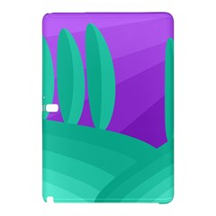 Purple and green landscape Samsung Galaxy Tab Pro 12.2 Hardshell Case