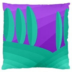 Purple and green landscape Standard Flano Cushion Case (Two Sides)