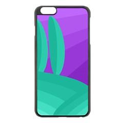 Purple and green landscape Apple iPhone 6 Plus/6S Plus Black Enamel Case