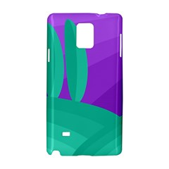 Purple and green landscape Samsung Galaxy Note 4 Hardshell Case