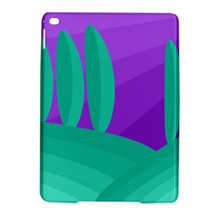 Purple and green landscape iPad Air 2 Hardshell Cases
