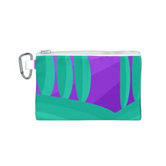 Purple and green landscape Canvas Cosmetic Bag (S)