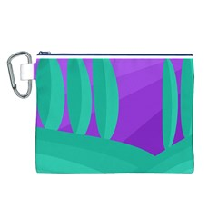 Purple and green landscape Canvas Cosmetic Bag (L)