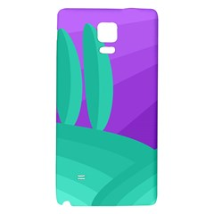 Purple and green landscape Galaxy Note 4 Back Case