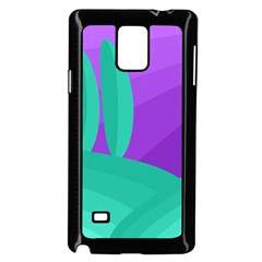 Purple and green landscape Samsung Galaxy Note 4 Case (Black)