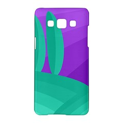 Purple and green landscape Samsung Galaxy A5 Hardshell Case