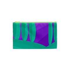 Purple and green landscape Cosmetic Bag (XS)
