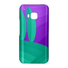 Purple and green landscape HTC One M9 Hardshell Case