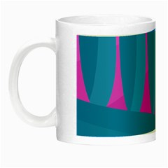 Pink and blue landscape Night Luminous Mugs