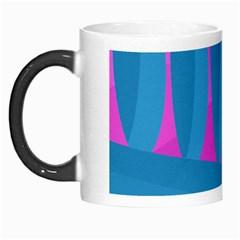 Pink and blue landscape Morph Mugs