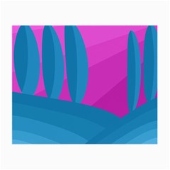 Pink and blue landscape Small Glasses Cloth