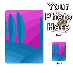 Pink and blue landscape Multi-purpose Cards (Rectangle)