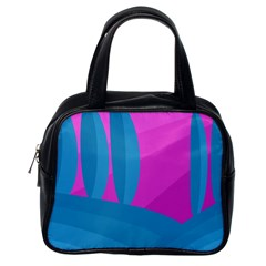 Pink and blue landscape Classic Handbags (One Side)