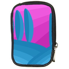 Pink And Blue Landscape Compact Camera Cases