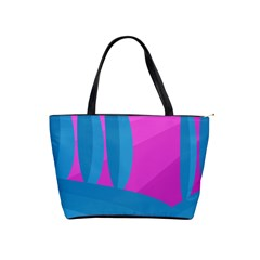 Pink and blue landscape Shoulder Handbags