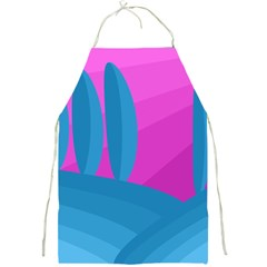 Pink And Blue Landscape Full Print Aprons