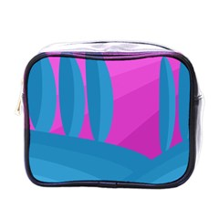 Pink and blue landscape Mini Toiletries Bags