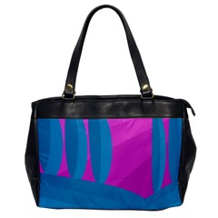 Pink and blue landscape Office Handbags