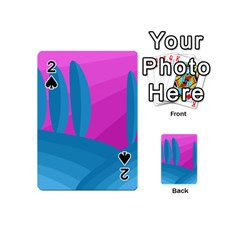 Pink and blue landscape Playing Cards 54 (Mini)