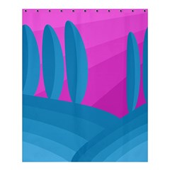 Pink and blue landscape Shower Curtain 60  x 72  (Medium)