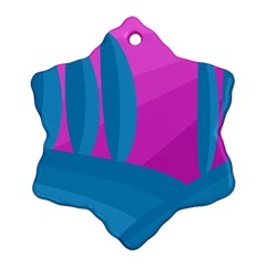 Pink and blue landscape Ornament (Snowflake)