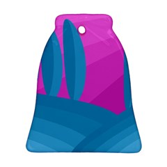 Pink and blue landscape Bell Ornament (2 Sides)