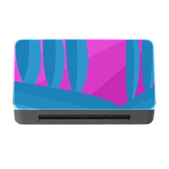 Pink and blue landscape Memory Card Reader with CF