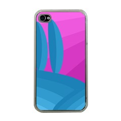 Pink and blue landscape Apple iPhone 4 Case (Clear)