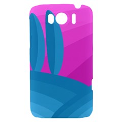 Pink and blue landscape HTC Sensation XL Hardshell Case