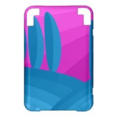 Pink and blue landscape Kindle 3 Keyboard 3G