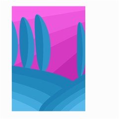 Pink and blue landscape Large Garden Flag (Two Sides)