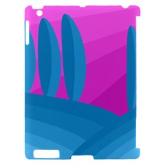 Pink and blue landscape Apple iPad 2 Hardshell Case (Compatible with Smart Cover)