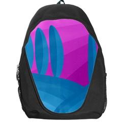 Pink and blue landscape Backpack Bag