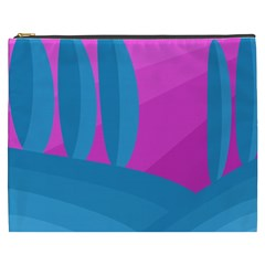 Pink and blue landscape Cosmetic Bag (XXXL)