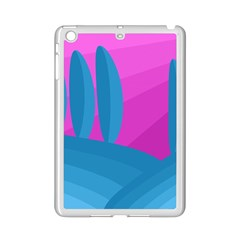 Pink and blue landscape iPad Mini 2 Enamel Coated Cases