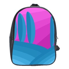 Pink and blue landscape School Bags (XL)